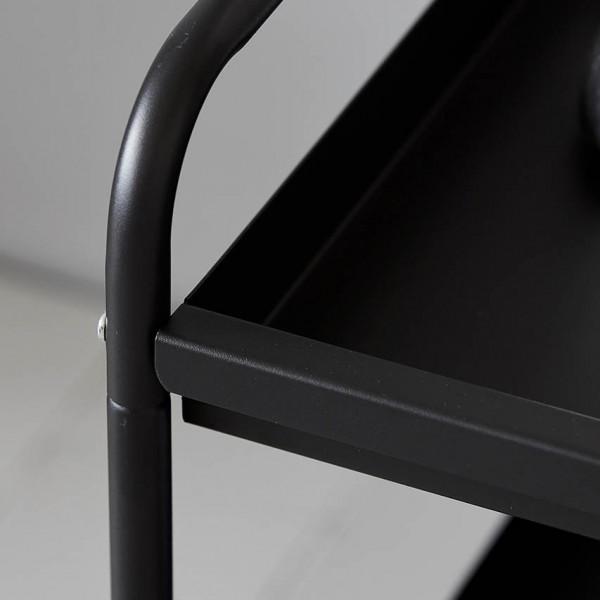 Servierwagen - Tablett, Metall, schwarz