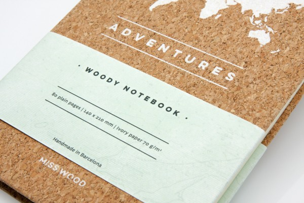 Notizbuch Woody Notebook - DIN A5, Korkeinband