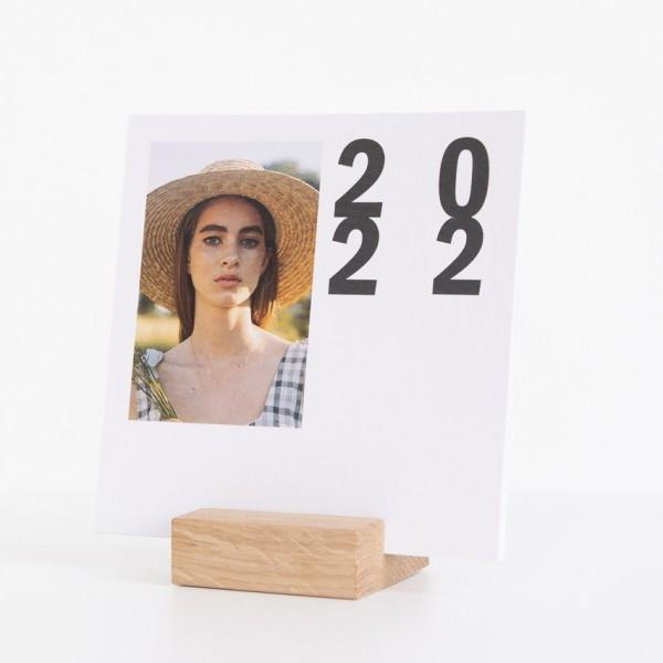 Tischkalender - 15x15 cm, mit Aufsteller