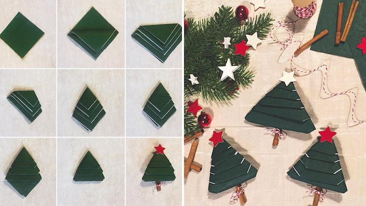 DIY-Weihnachten-Tipps-Ideen-Servietten-falten-Weihnachtsbaum