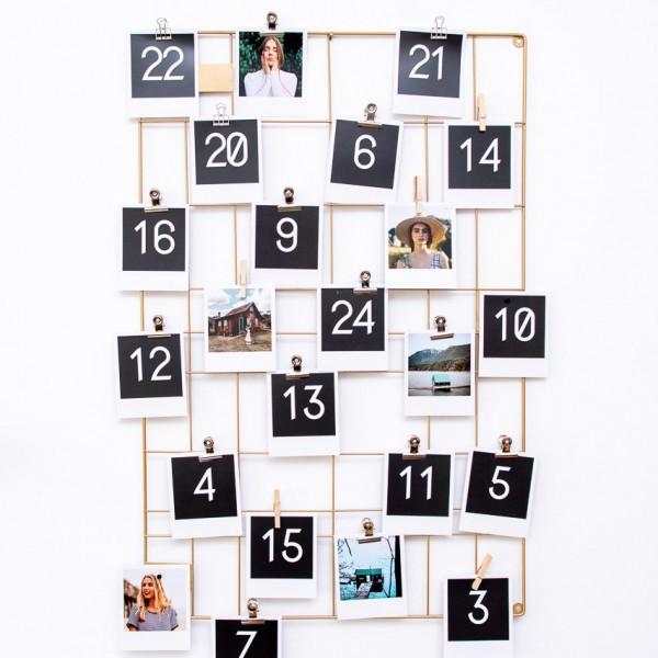 Polaroid Bilder Adventskalender - 9x11 cm