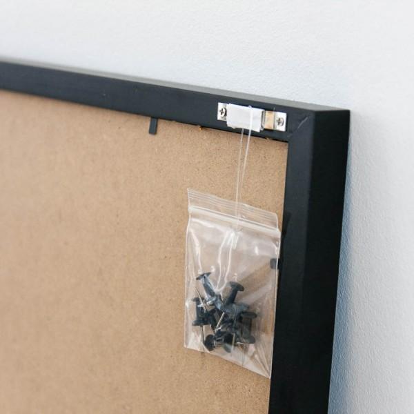 Pinnwand - mit Aufdruck, Kork, inkl. 8 Pins