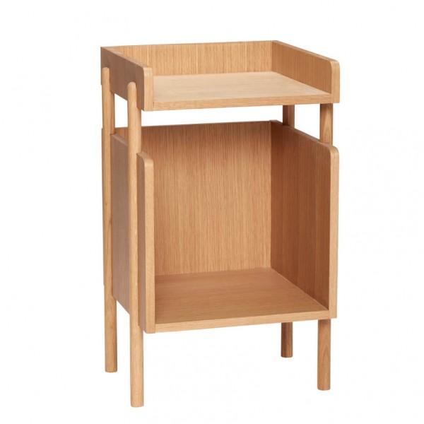 Ablagetisch - mit Fach, Holz (Eiche)