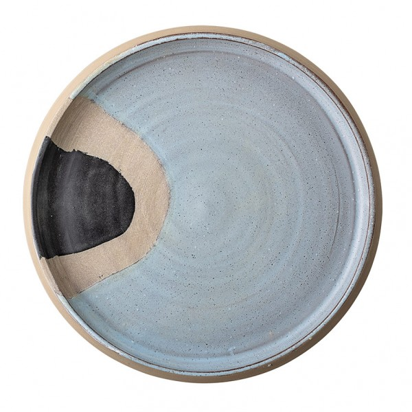 Deko Tablett - 28 cm, rund, Terracotta