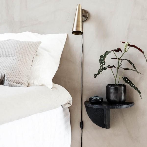 Wandtisch - Marmor, schwarz