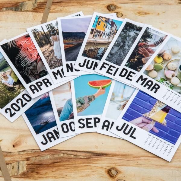 Polaroid Bilder Kalender - 9x11 cm, mit Clip
