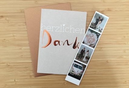 Dankeskarten-Hochzeit-Fotostreifen