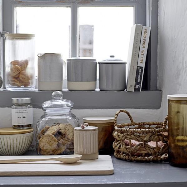 Vorratsglas - mit Deckel, Glas/Holz