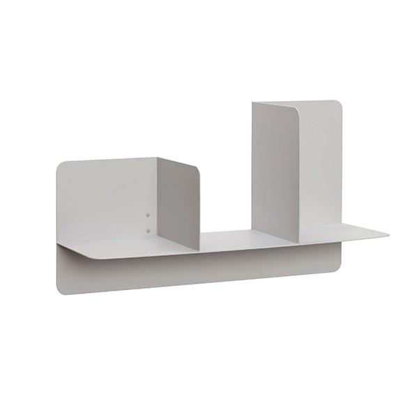 Wandablage - geometrisches Design, Metall, grau