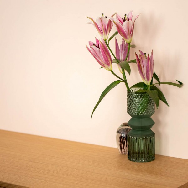 Vase - Retro Stil, Glas, grün