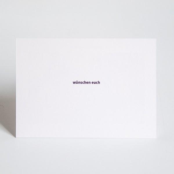 Grußkarte - DIN A6 quer, 2 Bilder