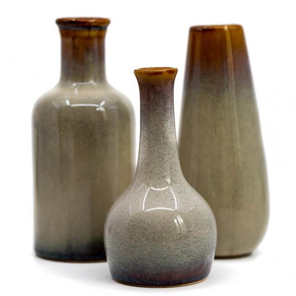 Vasen - 3er Set, verschiedene Formen, Keramik