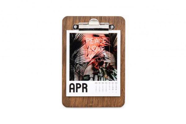 Polaroid Bilder Kalender mit Clipboard