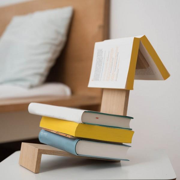 Buchablage Lesezeichen - Holz (Eiche)