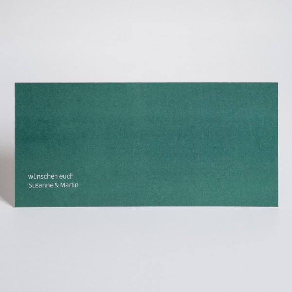 Grußkarte - DIN Lang quer, 1 Bild rechts