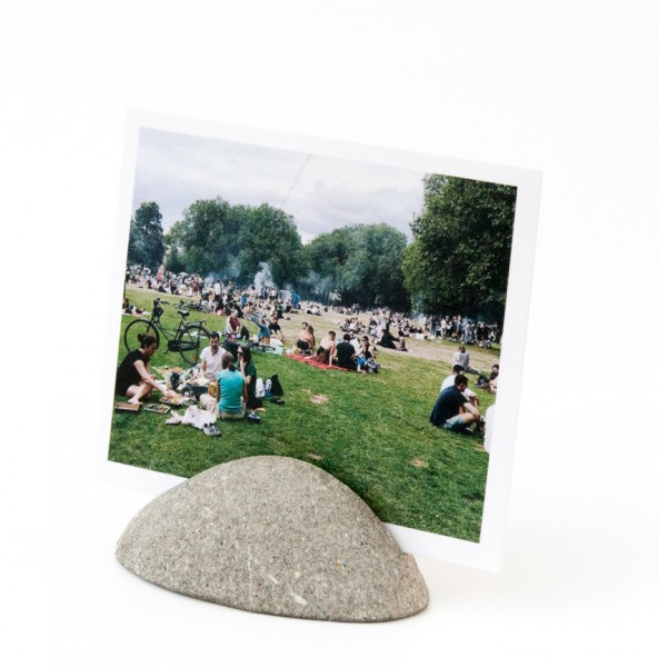 Fotoaufsteller - Stein, naturbelassen