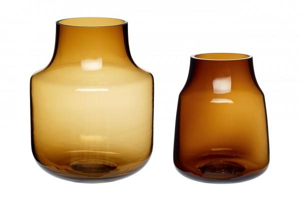 Vase Glass Brown