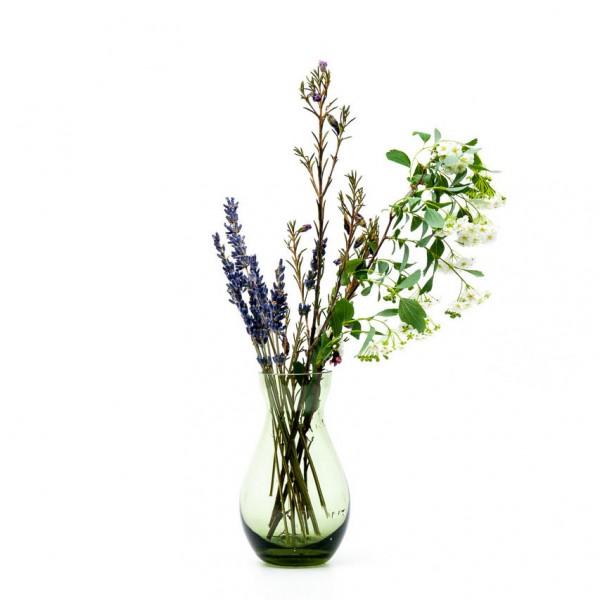 Vase - Mini, Glas, grün