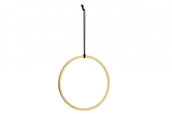 Deko Ring - mit Schnur, Metall, gold