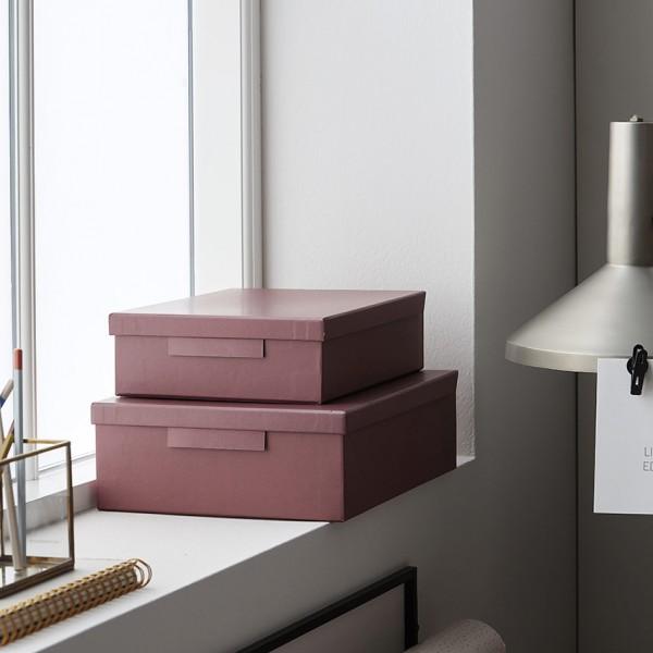 Schachteln File - 2er Set, mit Deckel, Karton