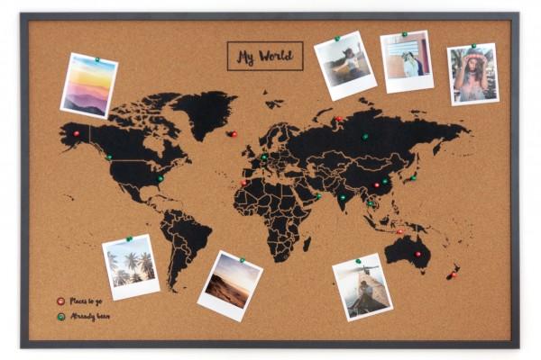 Pinboard CORK World Map XL
