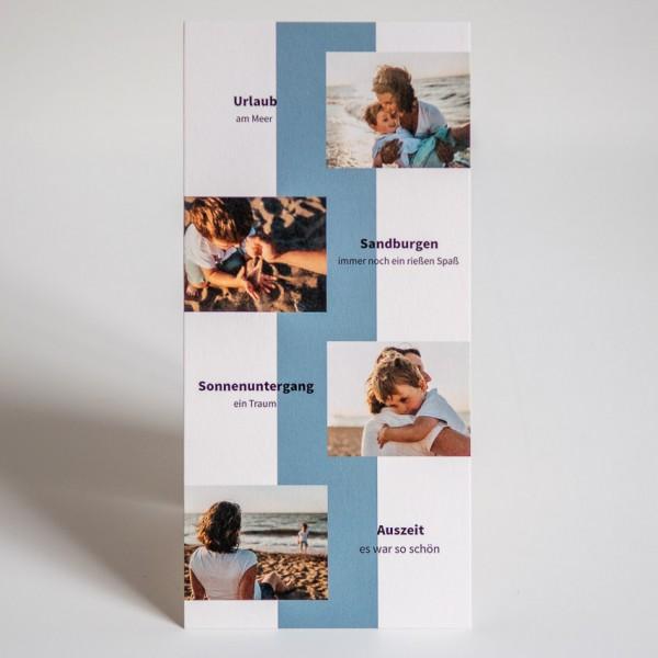 Grußkarte - DIN Lang hoch, 4 Bilder