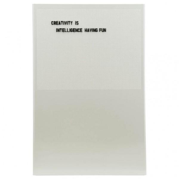 Magnettafel Grid - mit Buchstaben u. Zahlen, Metall