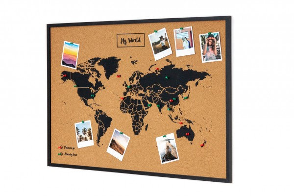 Pinboard CORK World Map XL