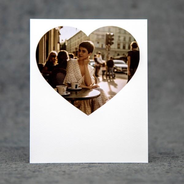 Retropix Herz - 9x11 cm, Fotokarton