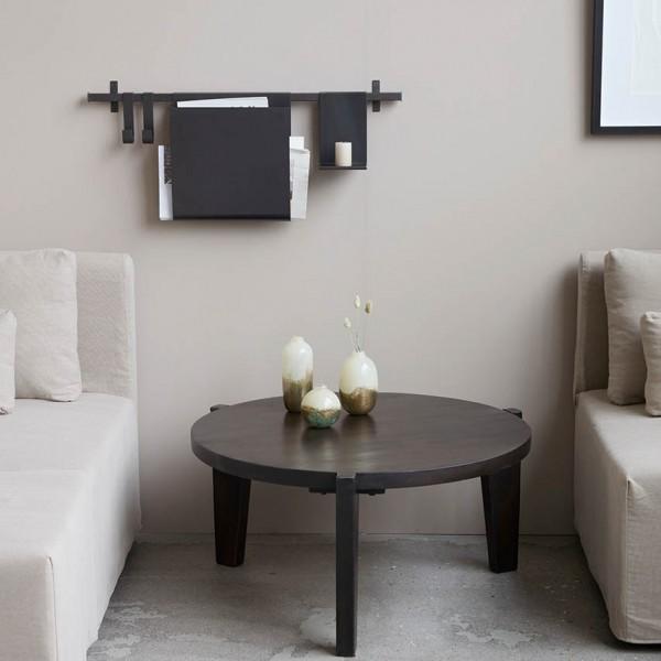Wandleiste - mit Magazinfach, Metall, schwarz