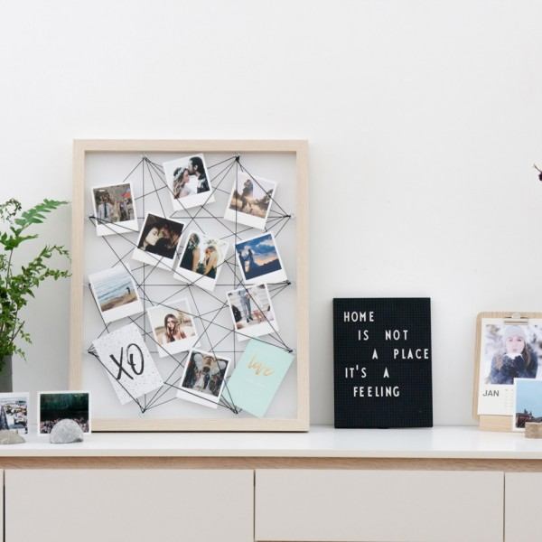 Fotorahmen Memo Board - Holzrahmen mit Netzgitter