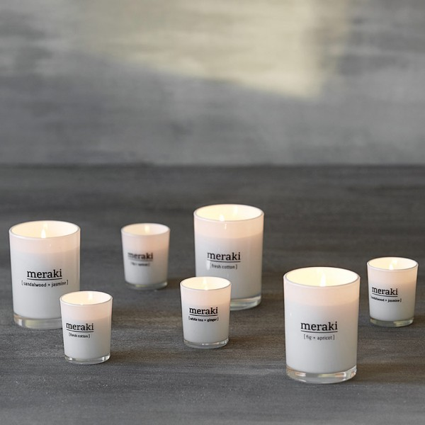Duftkerze Fresh Cotton - 5,5x6,7 cm, weißes Glas