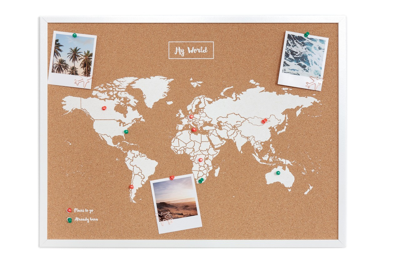 Pinboard CORK World Map - Pinnwand mit Weltkarte | HEJPIX