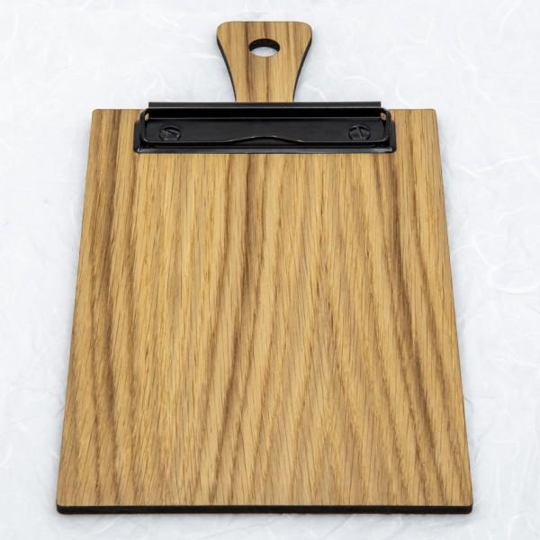 Clipboard mit Griff - für Format DIN A5, Eiche