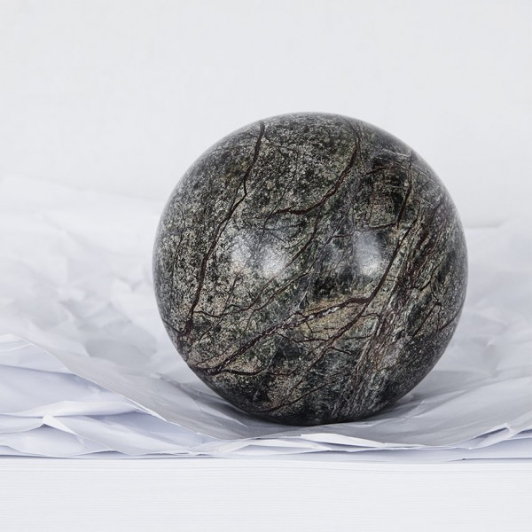 Briefbeschwerer Forest - 10 cm, Kugel, Marmor