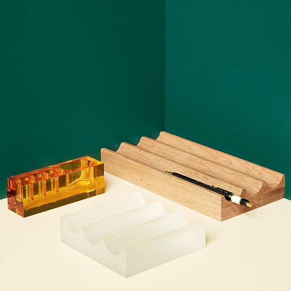 Schreibtischorganizer - Holz (Eiche)