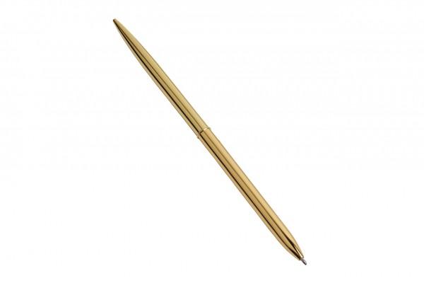 Kugelschreiber - Metall, gold, schwarze Tinte