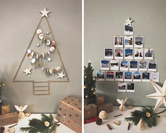 Weihnachten-DIY-Ideen-Weihnachtsbaum-Wanddeko