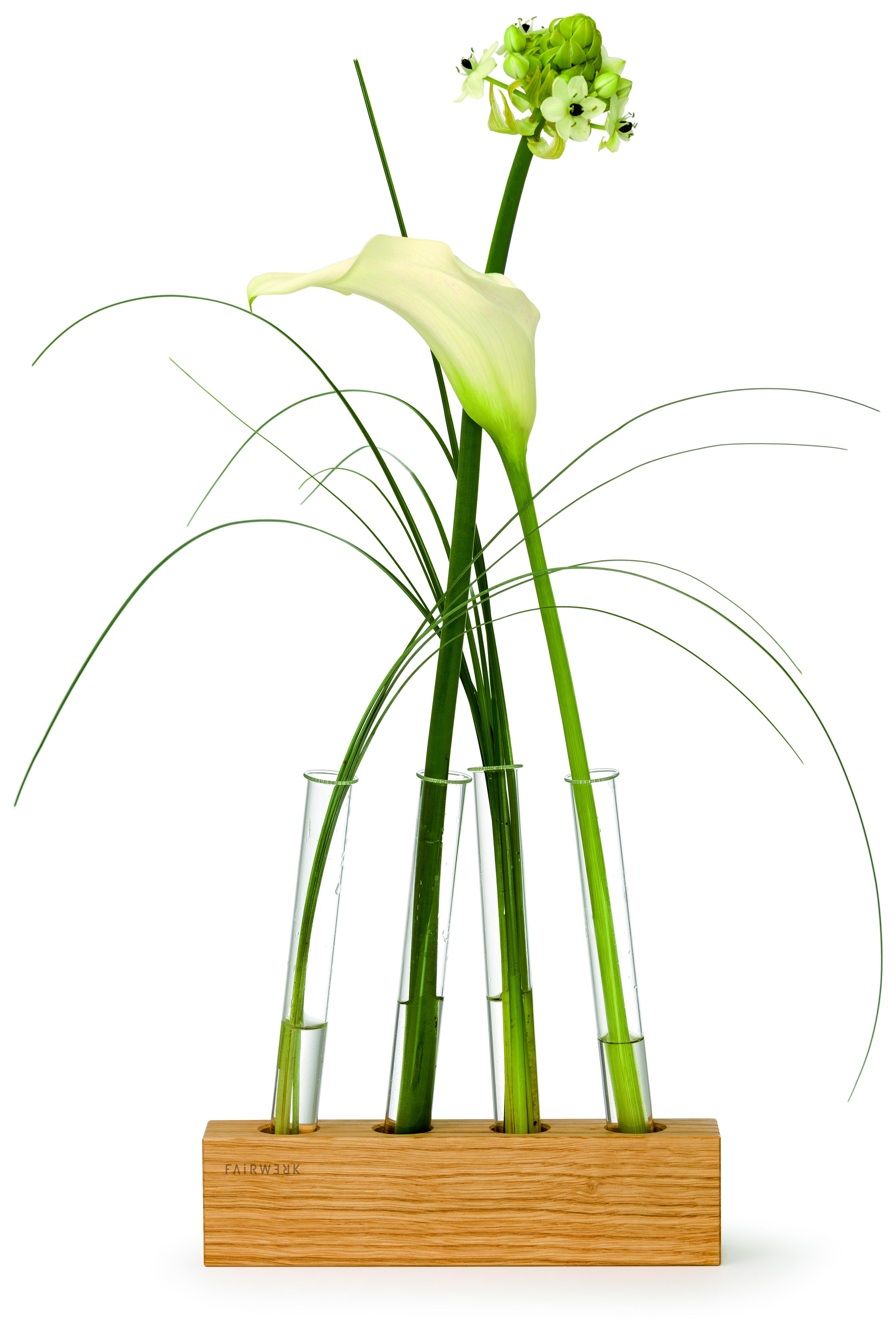 Vases set tubes vier minivasen in einem aufsteller aus - Fotowand aufsteller ...