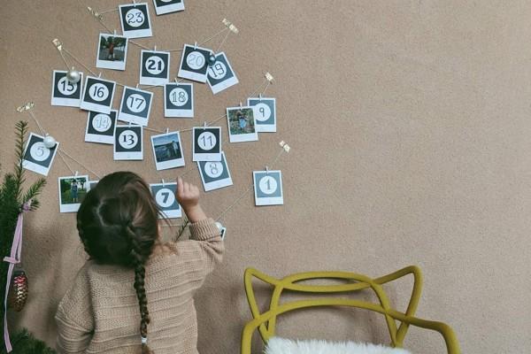 Polaroid Bilder Adventskalender