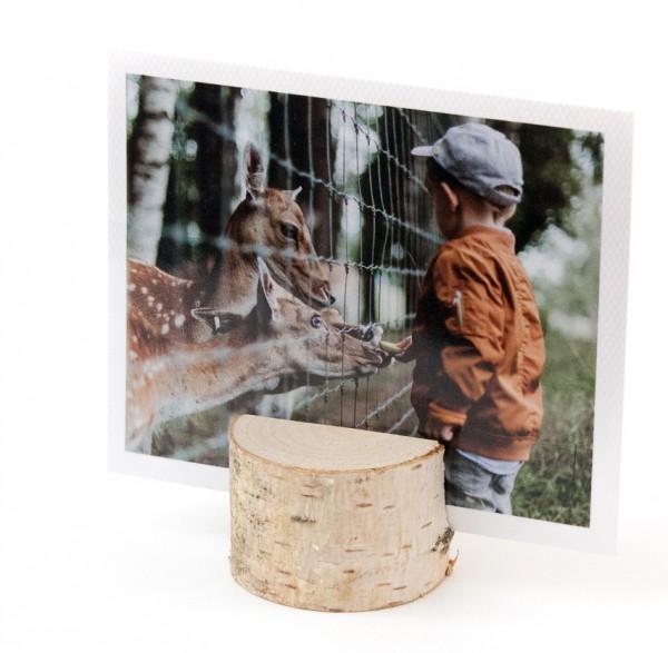Fotoaufsteller - Holz, naturbelassen