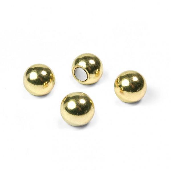 Magnete Ball - 4er Set, Kugeln, Neodym, gold