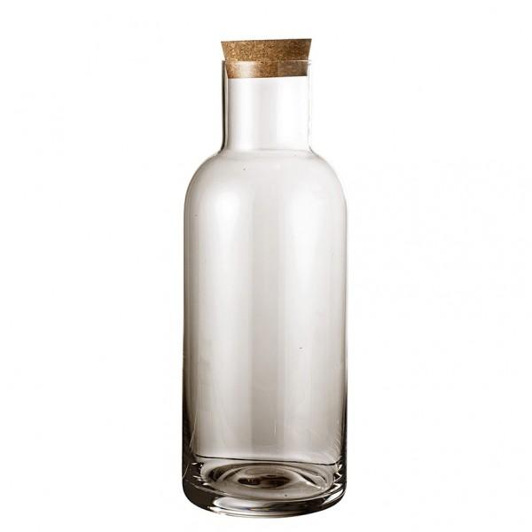 Flasche Ragna - Glas/Korken, braun