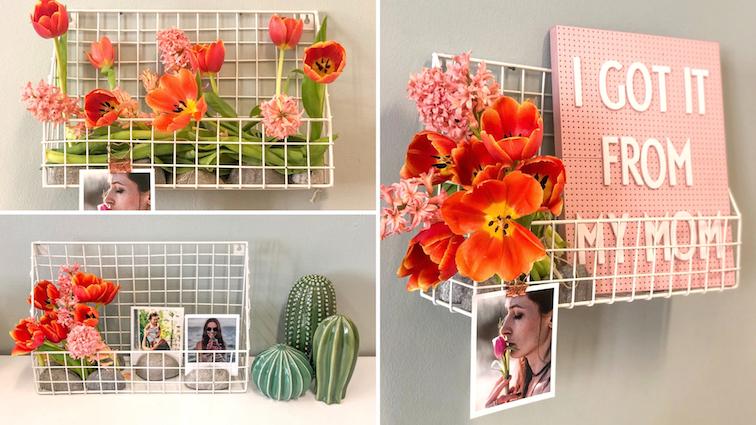 Muttertag-Geschenke-Ideen-Geschenkideen-Fotogeschenke-Blumen-Fotos-Wandkorb