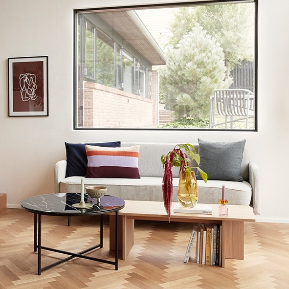Design Kerzenhalter - Glas, amber/rosa