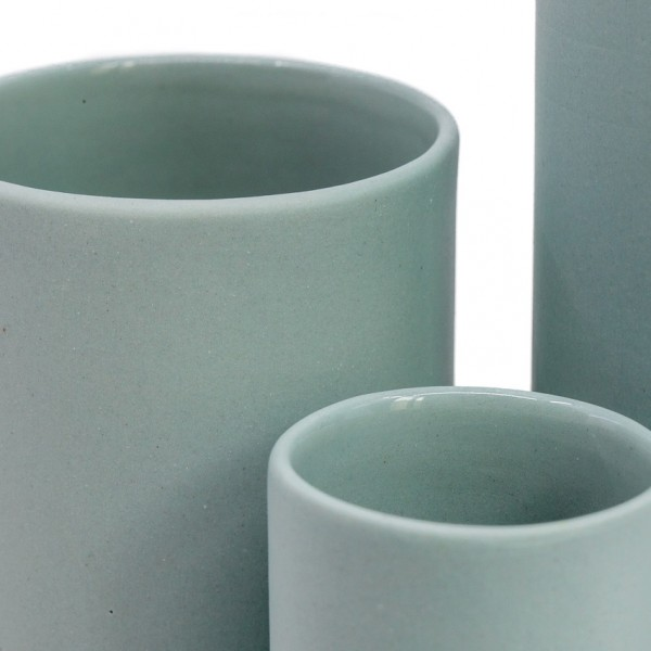 Vases Set Porcelain Green
