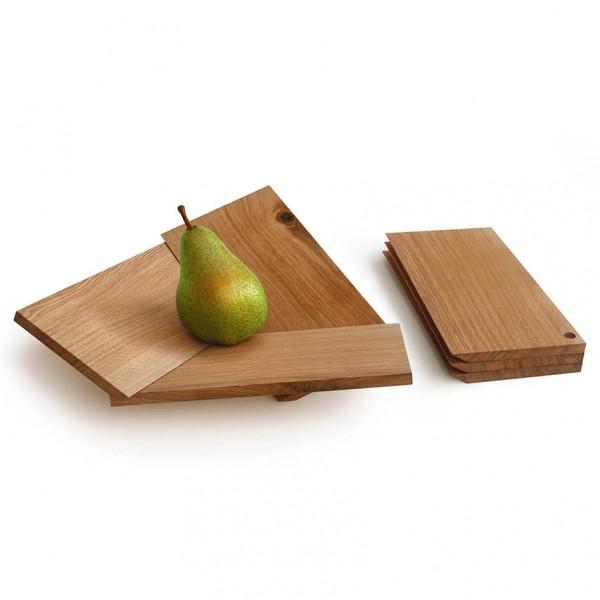 Obstschale Oh Là Là - Holz (Eiche)
