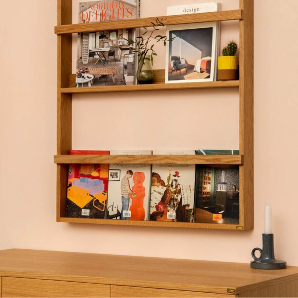 Magazine Shelf Wood