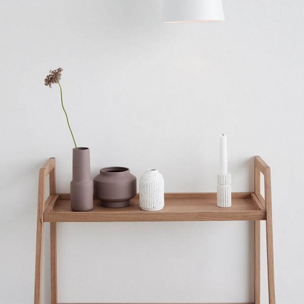 Regal - Standregal mit 2 Ablagen, Holz (Eiche)