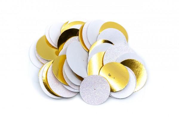 Girlande - Kreise, ca. 90 cm, weiß und gold